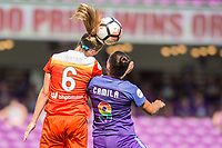Orlando, FL - Saturday June 24, 2017: Morgan Brian, Camila during a regular season National Women's Soccer League (NWSL) match between the Orlando Pride and the Houston Dash at Orlando City Stadium.