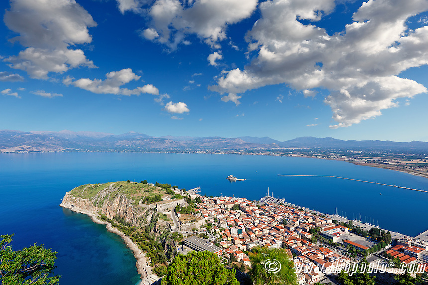 Acronafplia in the bay of Nafplio, Greece