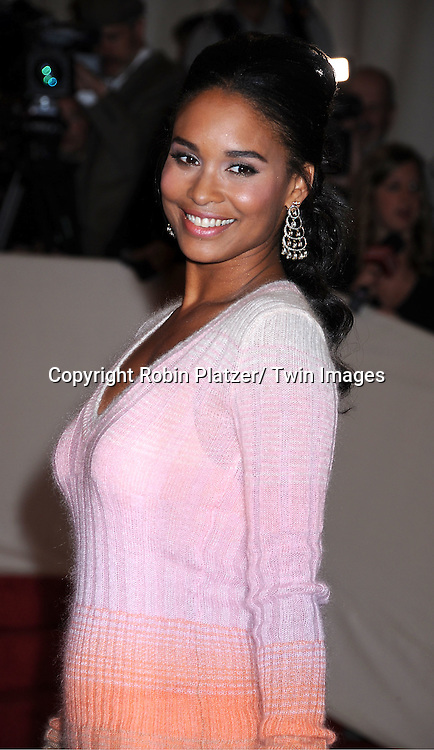 "Joy Bryant arriving at The Costume Institute Gala Benefit celebriting ""Alexander McQueen: Savage Beauty"" at The Metropolitan Museum of Art in New York City on May 2, 2011."