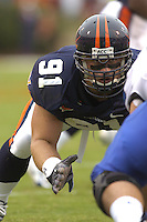 24 September 2005:Virginia DE Chris Long (91)..Virginia Cavaliers defeated the Duke Blue Devils 38-7 at Scott Stadium in Charlottesville, VA.
