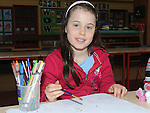 Sophie Reilly pictured at the Art competition at St. Patrick's school. Photo: Colin Bell/pressphotos.ie
