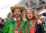 Sean McHugh and Ken McGreal from Castlebar at the All Ireland final replay.<br />Pic Conor McKeown