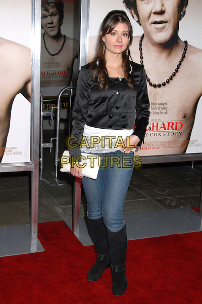 "VANESSA BRITTING.""Walk Hard: The Dewey Cox Story"" Los Angeles Premiere at Grauman's Chinese Theatre, Hollywood, California, USA..December 12th, 2007.full length jeans denim tucked into black boots jacket white clutch bag purse hand in pocket .CAP/ADM/BP.©Byron Purvis/AdMedia/Capital Pictures."