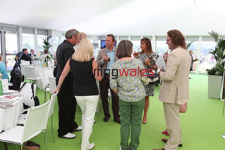 ISPS Handa Wales Open 2013<br /> Celtic Manor Resort<br /> Tented Village - Waitrose Hospitality Pavilion<br /> 01.09.13<br /> <br /> &copy;Steve Pope-Sportingwales