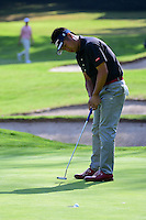 Yuta Ikeda (JPN) watches his putt drop on 1 during round 1 of the World Golf Championships, Mexico, Club De Golf Chapultepec, Mexico City, Mexico. 3/2/2017.<br /> Picture: Golffile | Ken Murray<br /> <br /> <br /> All photo usage must carry mandatory copyright credit (&copy; Golffile | Ken Murray)