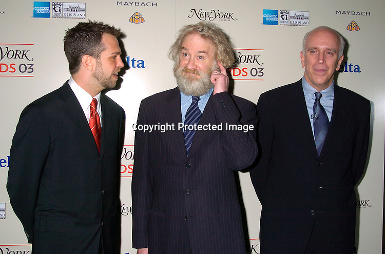 Carter Etherington,  Kevin Kline and publisher Larry Burstein..at the 2003 New York Magazine Awards on December 15, 2003 at the Four Seasons Restaurant . Photo by Robin Platzer, Twin Images