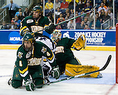 (Madore), Josh Burrows (Vermont - 22), Kevin Limbert (Yale - 10), Patrick Cullity (Vermont - 4) - The University of Vermont Catamounts defeated the Yale University Bulldogs 4-1 in their NCAA East Regional Semi-Final match on Friday, March 27, 2009, at the Bridgeport Arena at Harbor Yard in Bridgeport, Connecticut.