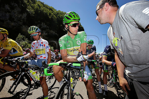 18.07.2016. Moirans-en-Montagne to Berne, Switzerland. SAGAN Peter (SVK) of TINKOFF at the start during stage 16 of the 2016 Tour de France a 209 km stage between Moirans-en-Montangne and Berne, on July 18, 2016 in Berne, Switzerland