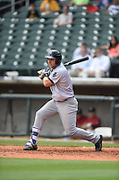 ***Temporary Unedited Reference File***Pensacola Blue Wahoos third baseman Eric Jagielo (17) during a game against the Birmingham Barons on May 2, 2016 at Regions Field in Birmingham, Alabama.  Pensacola defeated Birmingham 6-3.  (Mike Janes/Four Seam Images)