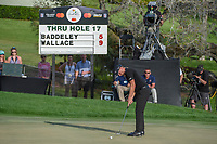 Matthew Wallace (ENG) watches his putt on 18 during round 4 of the Arnold Palmer Invitational at Bay Hill Golf Club, Bay Hill, Florida. 3/10/2019.<br /> Picture: Golffile | Ken Murray<br /> <br /> <br /> All photo usage must carry mandatory copyright credit (© Golffile | Ken Murray)