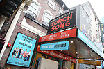 """Theatre Marquee for the Broadway cast photo call for """"Torch Song"""" at the Hayes Theatre on September 20, 2018 in New York City."""