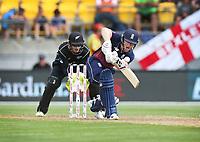 Englands Eoin Morgan bats during the third ODI cricket match between the Blackcaps & England at Westpac stadium, Wellington. 3rd March 2018. © Copyright Photo: Grant Down / www.photosport.nz