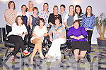 Ann Doherty, Kilgobnet, Beaufort, pictured with Fiona Casey, Ellen Marie O'Shea, Kathleen O'Connor, Linda Quirke, Rachel Ahern, Julie O'Sullivan, Kathleen Sweeney, Susan Griffin, Elaine O'COnnor, Breda Ashe, Margaret O'Sullivan, Mary Rose O'Sullivan and Ann Marie Sweeney, as she celebrated her 50th birthday with a trip to a Mike Denver concert in the Gleneagle hotel, Killarney on Wednesday night...............................................Christy O'Mahony, captain Beaufort Golf club and Irene McCarthy, Lady Captain Beaufort Golf Club pictured with James Lucey and Sheila McCarthy, who were the winners in their Captain Prize Competition at the course on Sunday. Also pictured are Frank Coffey, President, Sean Coffey, vice captain, Teresa Clifford, Margaret Guerin, Josephine O'Shea, Gretta Hurley, Renee Clifford, Peggy O'Riordan, Maureen Rooney, Mary Barrett, Robin Suter, Gearoid Keating, Jim Hurley, Gabhan O'Loughlin, Rory Browne, Mike Quirke, Matt Templeman and Simon Rainsford...Picture: Ger Cronin LMPA (087) 0522010....PR SHOT..NO REPRODUCTION FEE.............................................................................................................................................................................................................................................