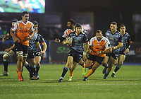 Cardiff Blues&rsquo; Rhun Williams breaks through<br /> <br /> Photographer Kevin Barnes/CameraSport<br /> <br /> Guinness Pro14  Round 14 - Cardiff Blues v Toyota Cheetahs - Saturday 10th February 2018 - Cardiff Arms Park - Cardiff<br /> <br /> World Copyright &copy; 2018 CameraSport. All rights reserved. 43 Linden Ave. Countesthorpe. Leicester. England. LE8 5PG - Tel: +44 (0) 116 277 4147 - admin@camerasport.com - www.camerasport.com