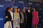 The City's Jennifer Esposito (L) is on Blue Bloods with Donnie Wahlberg, Another World's Amy Carlson, Santa Barbara's Will Estes, Lou Cariou, Tom Selleck and Bridget Moynahan at the CBS Upfront 2011 on May 18, 2011 at Lincoln Center, New York City, New York. (Photo by Sue Coflin/Max Photos)