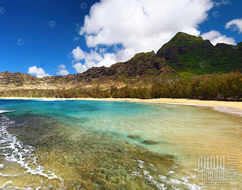 Kipu Kai Beach near Kalapaki Beach on the south shore of Kauai, Hawaii.