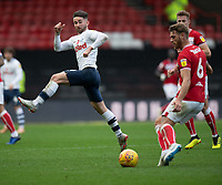 Preston North End's Sean Maguire (left) tries to block Bristol City's Nathan Baker (right)  cross<br /> <br /> Photographer David Horton/CameraSport<br /> <br /> The EFL Sky Bet Championship - Bristol City v Preston North End - Saturday 10th November 2018 - Ashton Gate Stadium - Bristol<br /> <br /> World Copyright © 2018 CameraSport. All rights reserved. 43 Linden Ave. Countesthorpe. Leicester. England. LE8 5PG - Tel: +44 (0) 116 277 4147 - admin@camerasport.com - www.camerasport.com