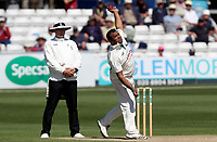 Samit Patel of Nottinghamshire in bowling action during Essex CCC vs Nottinghamshire CCC, Specsavers County Championship Division 1 Cricket at The Cloudfm County Ground on 16th May 2019