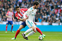 Real Madrid's Isco Alarcon (r) and Atletico de Madrid's Angel Correa during La Liga match. April 8,2018. (ALTERPHOTOS/Acero) /NortePhoto NORTEPHOTOMEXICO