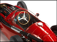BNPS.co.uk (01202 558833)<br /> Pic: Bonhams/BNPS<br /> <br /> Bidding frenzy for a foot long Maserati...<br /> <br /> An exceptionally precise scale model car comprising 4,000 individual parts that took an engineer nearly 200 full days to build has sold for &pound;21,000. <br /> <br /> The sophisticated 1:13 scale model is an exact reproduction of Maserati's 250F 1960s Formula One racing car that includes an exhaust system, tyre tread detailing and  functioning suspension. <br /> <br /> Each component was based on carefully taken measurements and drawings of a full size 250F then constructed from scratch. <br /> <br /> The model was sold, along with an engraved brass plaque by the modelmaker, at the Goodwood Festival of Speed in West Sussex at the weekend.