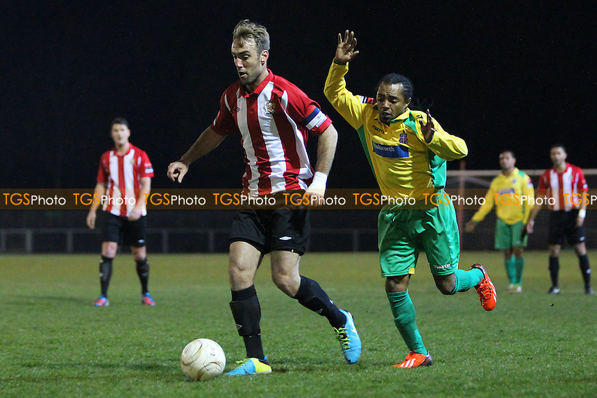 Elliot Styles in action for Hornchurch - AFC Hornchurch vs Dulwich Hamlet - Ryman League Premier Division Football at The Stadium, Bridge Avenue - 25/03/14 - MANDATORY CREDIT: Gavin Ellis/TGSPHOTO - Self billing applies where appropriate - 0845 094 6026 - contact@tgsphoto.co.uk - NO UNPAID USE