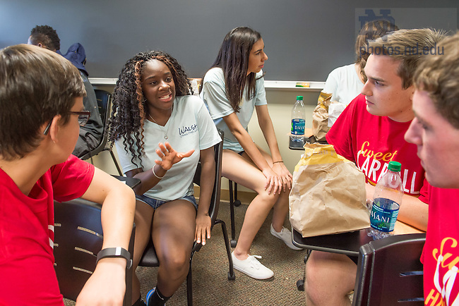 Aug. 22, 2015; Moreau First Year Experience weekend. (Photo by Matt Cashore/University of Notre Dame)