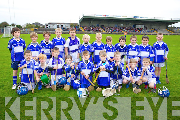 Saint Brendans Under 8 Team who played at half time of the Munster Intermediate Club Semi-Final at Nenagh on Sunday.