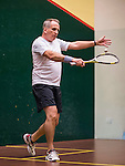 Chris Holden of South Africa and Paul Weston of Australia in action at the center court during the World Masters Squash Championships 2014 on 06 July 2014 at the Hong Kong Squash Centre in Hong Kong, China. Photo by Victor Fraile / Power Sport Images