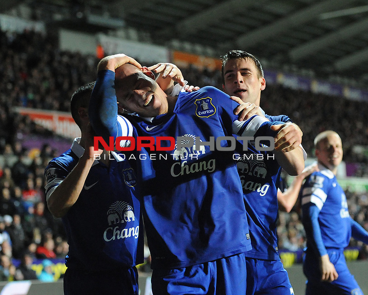 Everton's Ross Barkley celebrates his goal. -    22/12/2013 - SPORT - FOOTBALL - Liberty Stadium - Swansea - Swansea City v Everton - Barclays Premier League<br /> Foto nph / Meredith<br /> <br /> ***** OUT OF UK *****