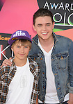 LOS ANGELES, CA. - March 27: Jesse McCartney and brother arrive at Nickelodeon's 23rd Annual Kid's Choice Awards at Pauley Pavilion on March 27, 2010 in Los Angeles, California.