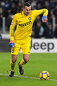 9th December 2017, Allianz Stadium, Turin, Italy; Serie A football, Juventus versus Inter Milan; Samir Handanovic kicks the ball back into play