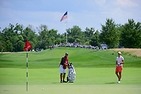 Carlota Ciganda (ESP) putts on to 1 during Saturday's third round of the 72nd U.S. Women's Open Championship, at Trump National Golf Club, Bedminster, New Jersey. 7/15/2017.<br /> Picture: Golffile | Ken Murray<br /> <br /> <br /> All photo usage must carry mandatory copyright credit (&copy; Golffile | Ken Murray)