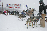 Jr. Iditarod Willow Lake  start / finish Mark Ruzicka