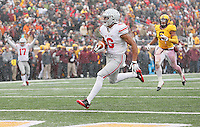 Ohio State Buckeyes wide receiver Evan Spencer (6) trots untouched into the end zone for a fourth quarter TD at TCF Bank Stadium on November 15, 2014. (Chris Russell/Dispatch Photo)