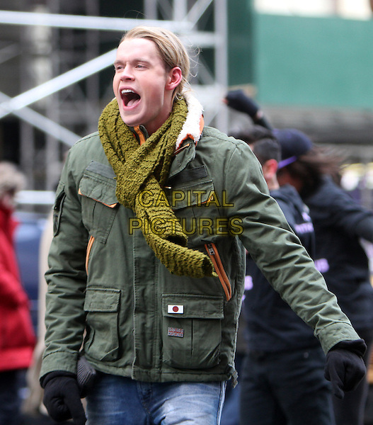 NEW YORK, NY - MARCH 13: Chord Overstreet on the set of Fox tv's Glee on Times Square in New York City. March 13, 2014.  <br /> CAP/MPI/RW<br /> &copy;RW/ MediaPunch/Capital Pictures