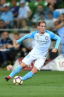 Melbourne, 6 January 2017 - NEIL KILKENNY (8) of Melbourne City controls the ball in the round 14 match of the A-League between Melbourne City and Western Sydney Wanderers at AAMI Park, Melbourne, Australia. Melbourne won 1-0 (Photo Sydney Low / sydlow.com)