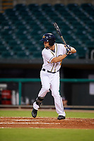Montgomery Biscuits right fielder Nathan Lukes (2) at bat during a game against the Mississippi Braves on April 24, 2017 at Montgomery Riverwalk Stadium in Montgomery, Alabama.  Montgomery defeated Mississippi 3-2.  (Mike Janes/Four Seam Images)