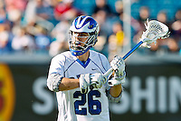 February 20, 2011:  Duke midfielder Robert Rotanz (26) during Lacrosse action between the Duke Blue Devils and Notre Dame Fighting Irish during the Moe's Southwest SunShine Classic played at EverBank Field in Jacksonville, Florida. Notre Dame defeated Duke 12-7.