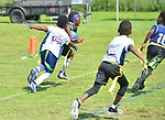 MIRAMAR, FL - MAy 18: Miramar Flag football league final game and trophy ceremony at Vizcaya Park of Miramar on May 18, 2019 in Miramar, Florida. ( Photo by Johnny Louis / jlnphotography.com )