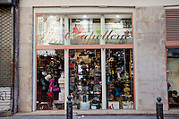 Hat shop 'La Chapellerie Marseillaise' in the Noailles district of Marseille, France, 04 February 2013