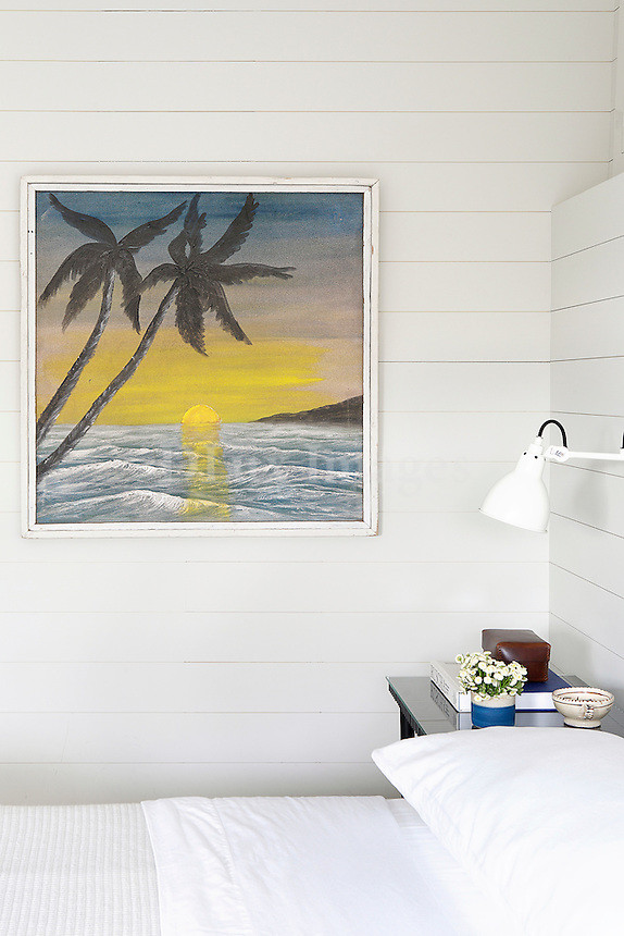 Painting in the bedroom