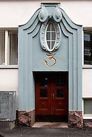 Jugendstil-Portal, Helsinki, Finnland
