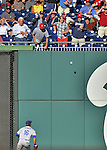19 September 2012: Los Angeles Dodgers outfielder Andre Ethier watches the ball bounce off the right field wall during a game against the Washington Nationals at Nationals Park in Washington, DC. The Nationals defeated the Dodgers 3-1 in the first game of their double-header. Mandatory Credit: Ed Wolfstein Photo
