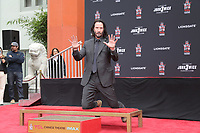 Keanu Reeves Hand and Foot Print Ceremony