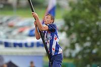 FIERLJEPPEN: IJLST: Watte Abma Skânsen, 25-08-2012, Fierljepferiening Drylts e.o., Nederlands kampioenschap, Jongens, kampioen Bobby Zwaagman (#149), ©foto Martin de Jong