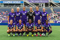 Orlando, FL - Sunday July 10, 2016: Orlando Pride Starting XI prior to a regular season National Women's Soccer League (NWSL) match between the Orlando Pride and the Boston Breakers at Camping World Stadium.
