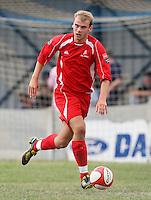 Marc Gobel of Aveley - Romford vs Aveley - Pre-Season Friendly Match at Mill Field, Aveley FC - 31/07/10 - MANDATORY CREDIT: Gavin Ellis/TGSPHOTO - Self billing applies where appropriate - Tel: 0845 094 6026