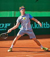 Netherlands, Rotterdam August 07, 2015, Tennis,  National Junior Championships, NJK, TV Victoria, Karol van der Linden<br /> Photo: Tennisimages/Henk Koster