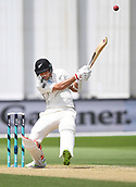 3rd December 2017, Wellington, New Zealand;  Trent Boult batting.<br /> Day 3. New Zealand Black Caps v West Indies. 1st test match of the ANZ International Cricket Season 2017/18 season. Basin Reserve, Wellington,