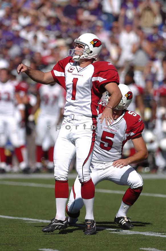 NEIL RACKERS, of the Arizona Cardinals in action during the Cardinals game against the Baltimore Ravens on September 23, 2007 in Baltimore, Maryland...RAVENS win 26-23..SportPics